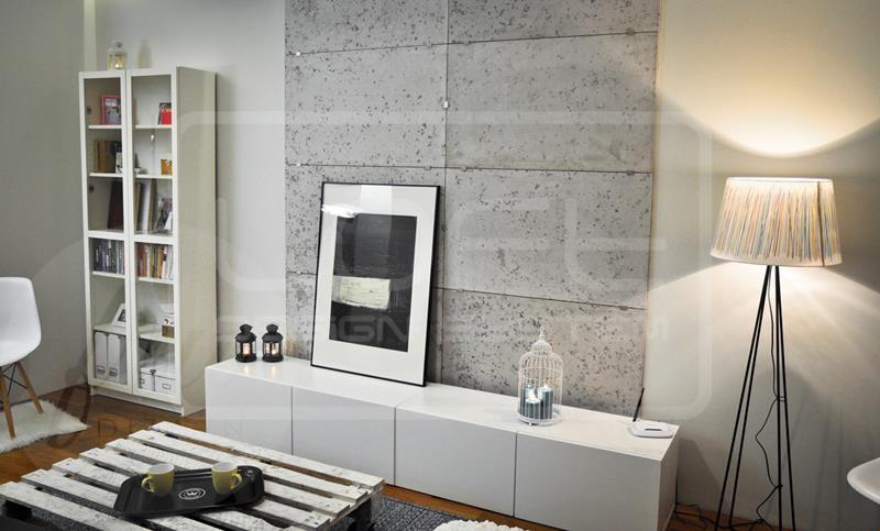 Panel Imitacja Betonu Loft Concrete Plain 100x60 Kolory