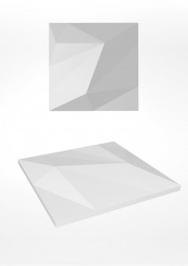 Panel ścienny 3D - ArtPanel - model QUARTZ