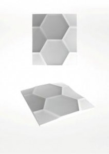 Panel ścienny 3D - ArtPanel - model HEXAGON