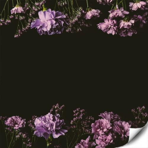 d27c9856494fde Fototapeta ścienna na wymiar - Delikatne kwiaty na czarnym tle ...